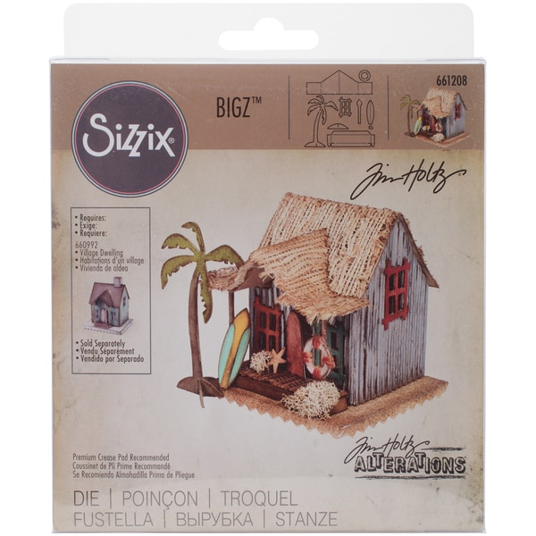 Sizzix Bigz Die By Tim Holtz-Village Surf Shack