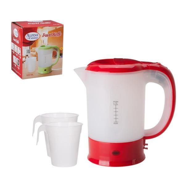 0.5 Liter Red Electric Travel Kettle