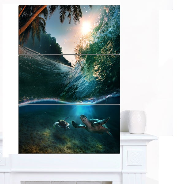 Designart 'Tropical Paradise Seashore' Seashore Canvas Wall Artwork 22401523