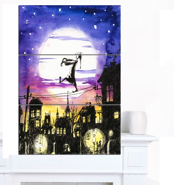 Designart 'Sleepwalker in Moonlight' Canvas Artwork