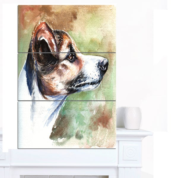 Designart 'Jack Russell Terrier' Animal Artwork on Canvas