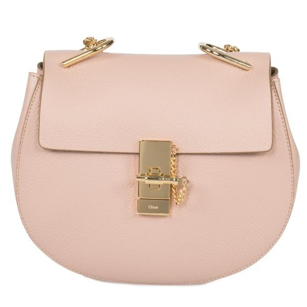 Chloe Drew Medium Rose Leather Crossbody Handbag