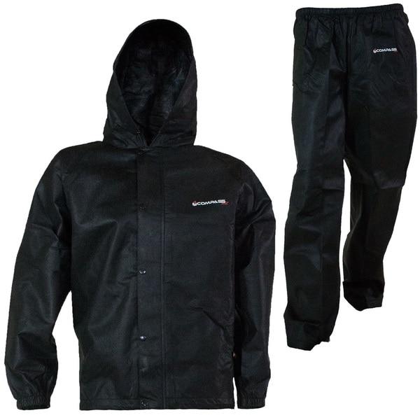 Compass 360 SportTek Black Non-woven Rain Suit