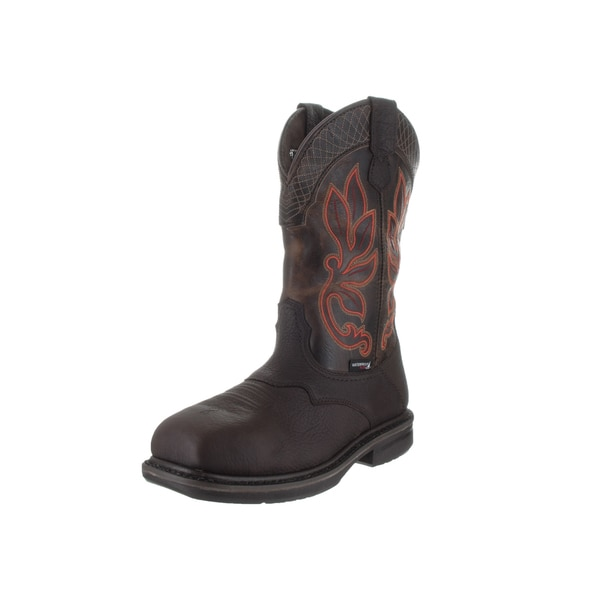 Wolverine Men's Roscoe Brown Leather Waterproof Boots