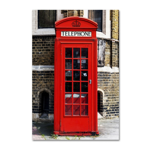 Philippe Hugonnard 'English Phone Booth London' Canvas Art 22403608