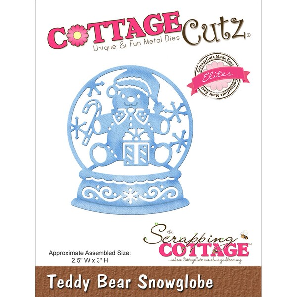 "CottageCutz Elites Die -Teddy Bear Snowglobe 2.5""X3"""