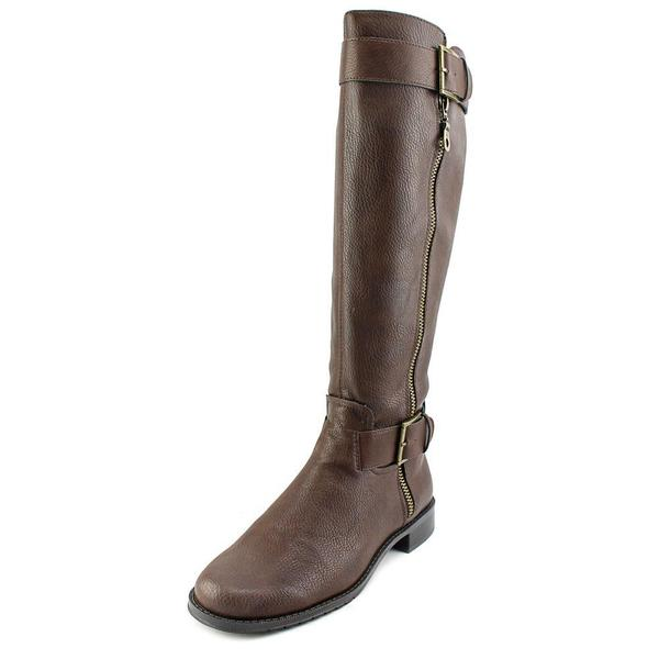 Aerosoles Women's 'Ride Around Wide Calf' Brown Faux Leather Boots