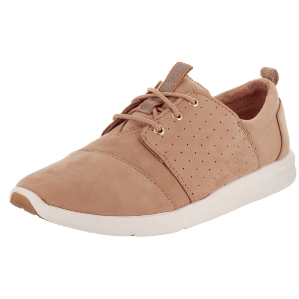 Toms Women's Del Rey Sneaker Brown Nubuck Casual Shoes