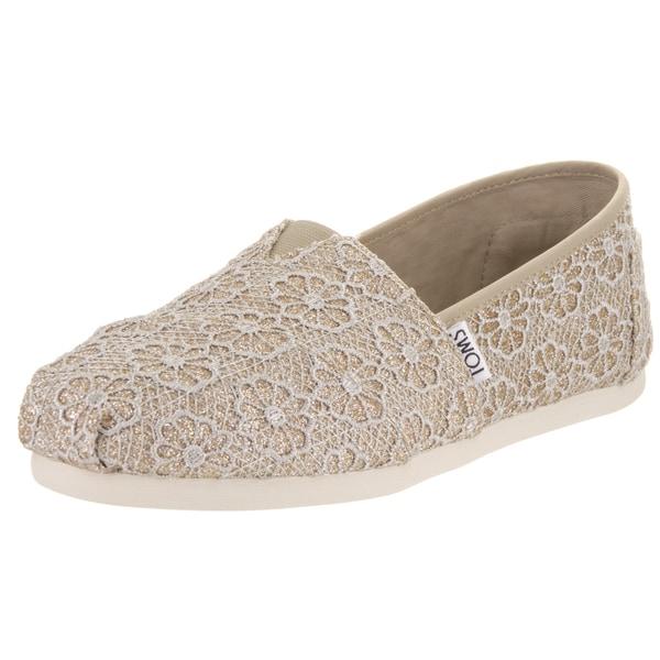Toms Women's Classic Crochet Glitter Casual Shoe