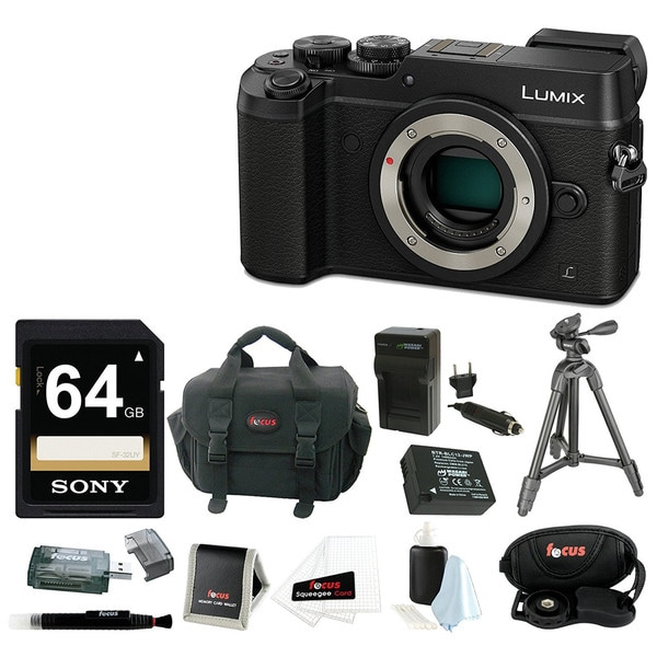 Panasonic DMC-GX8KBODY LUMIX GX8 (DSLM) Camera Body with Battery/Charger and 64GB SDXC Accessory Bundle