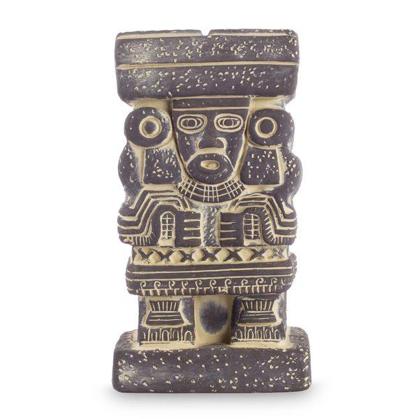 Handmade Ceramic Statuette, 'Goddess Chalchiuhtlicue' (Mexico) 22420166