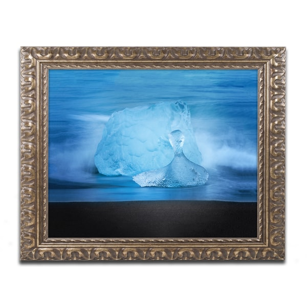 Philippe Sainte-Laudy 'Blue Jewel' Ornate Framed Art