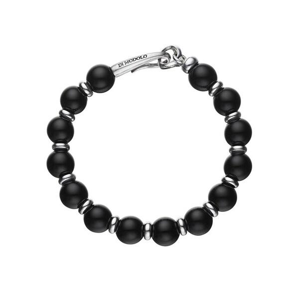 Di Modolo Rhodium-plated Sterling Silver Black Onyx Bracelet