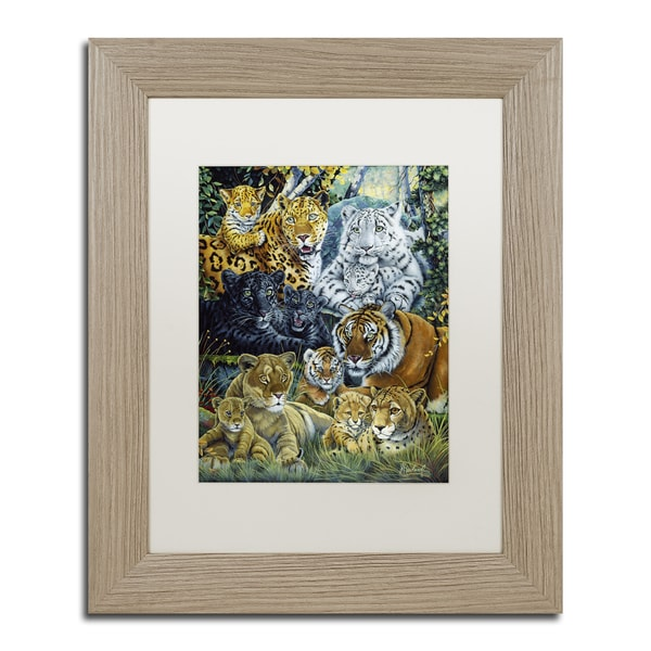 Jenny Newland 'Pet Shop' Ornate Framed Art