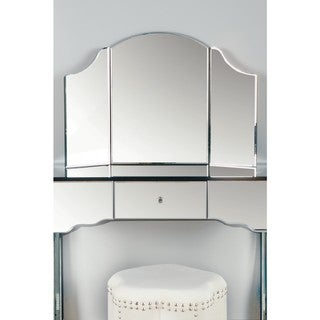Statements by J Sima Vanity Freestanding Mirror, 2 Inch Tall - Silver