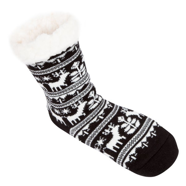 Leisureland Women's Reindeer Slipper Socks