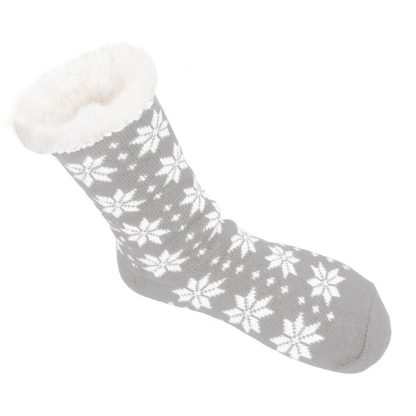 Leisureland Women's Snowflake Slipper Socks