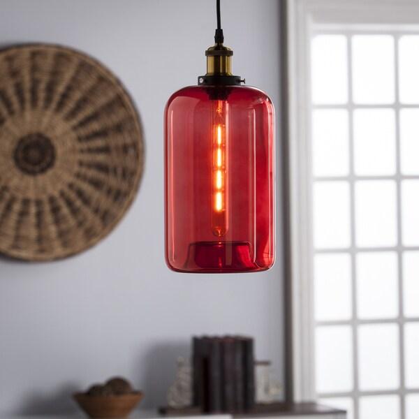 Harper Blvd Coralia Colored Glass Mini Pendant Lamp - Red 22436248