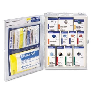 First Aid Only ANSI 2015 SmartCompliance Food Service Cabinet w/o Medication,25 People,94 Piece