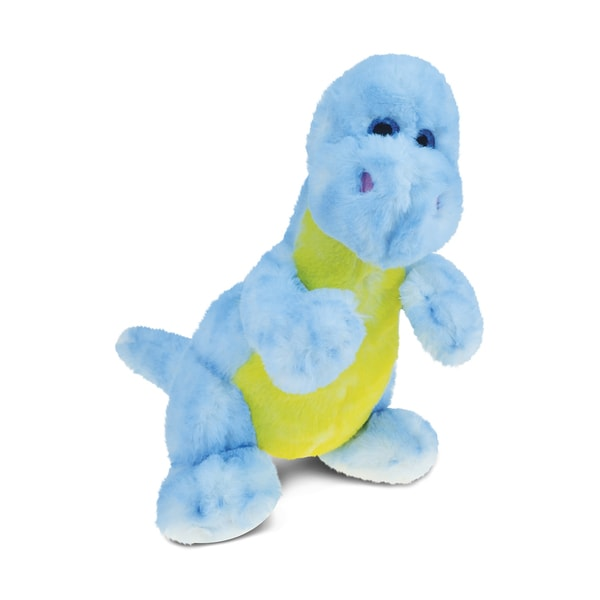 Puzzled Inc. Blue 9-inch Dinosaur Super-soft Stuffed Plush Cuddly Animal Toy