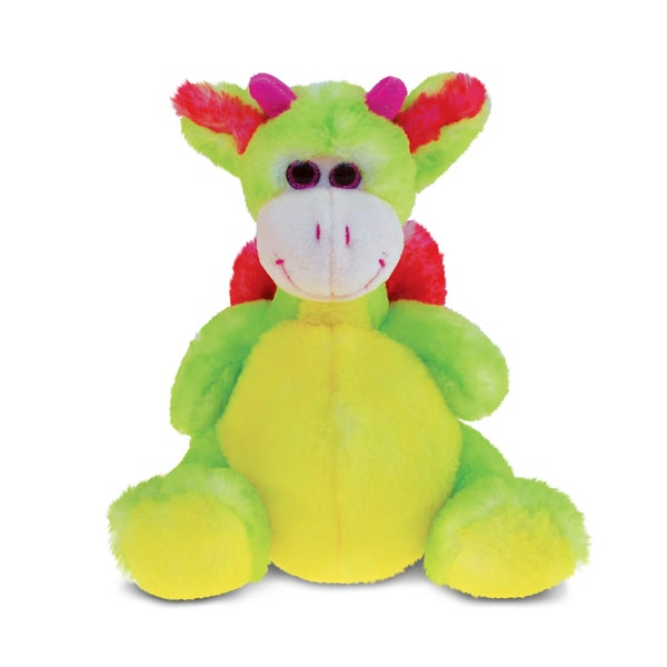 Puzzled Dragon Super-Soft Stuffed Plush Cuddly Animal Toy