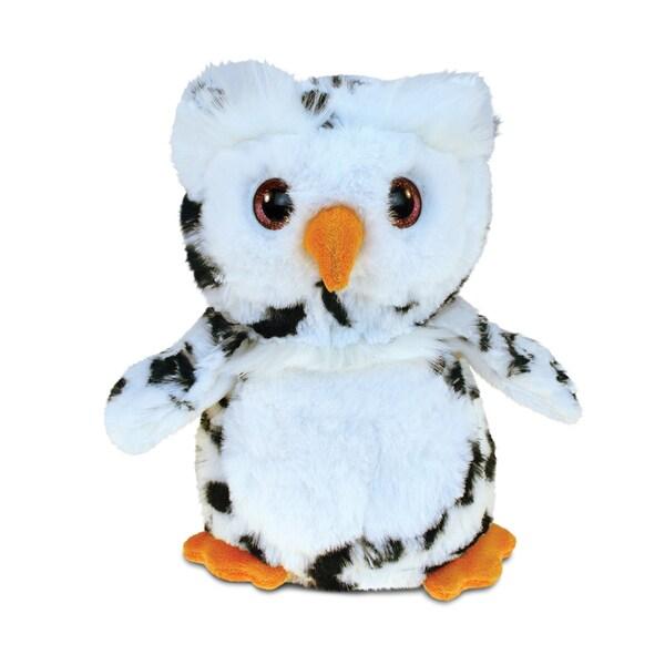 Puzzled White 8.5-inch Owl Super-soft Stuffed Plush Cuddly Animal Toy 22437649