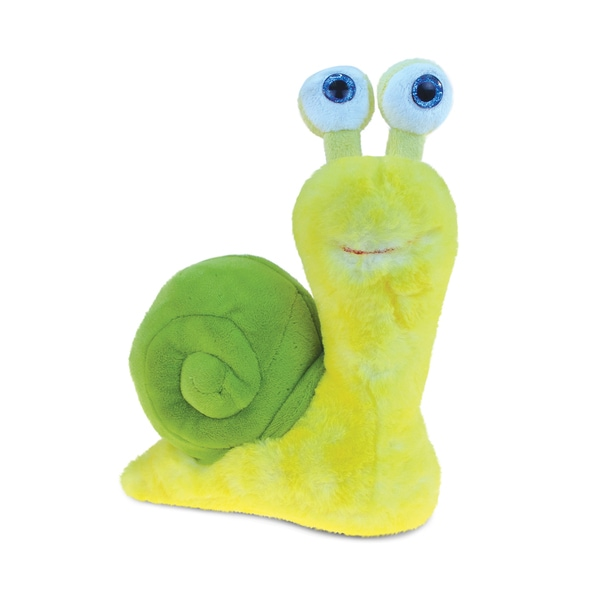 Puzzled Yellow Super-Soft Stuffed Plush Cuddly Snail 22437655