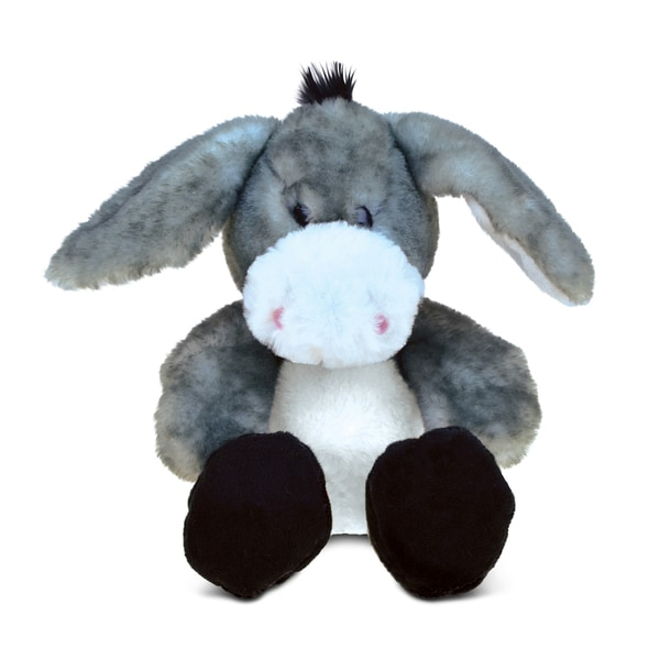 Puzzled Sitting Grey Donkey Super-soft Plush Toy 22437800