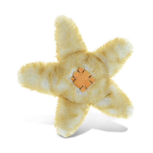 Puzzled Beige 6.5-inch Stuffed Plush Sea Star Cuddly Animal Toy