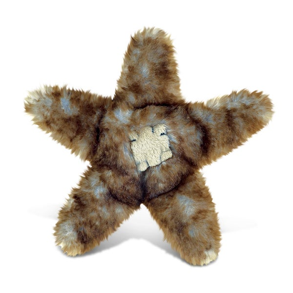 Puzzled Brown Sea Star Super-Soft Stuffed 6.5-inch Plush Cuddly Animal Toy