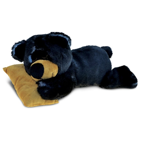 Puzzled Sleeping Black Bear With Pillow Plush Animal 22437851