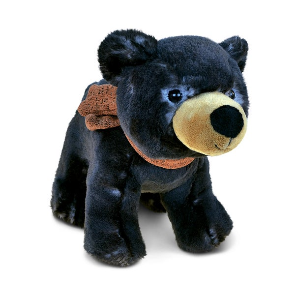 Puzzled Standing Black Bear Plush Animal 22437901
