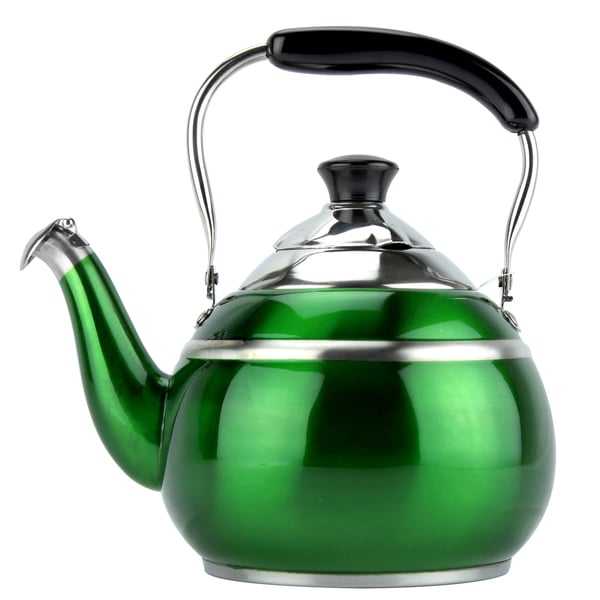 MTM Stainless Steel Green Metallic 2-liter Tea Kettle