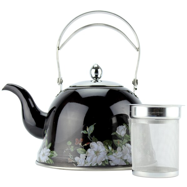 2 Liter Black Stainless Steel Tea Kettle