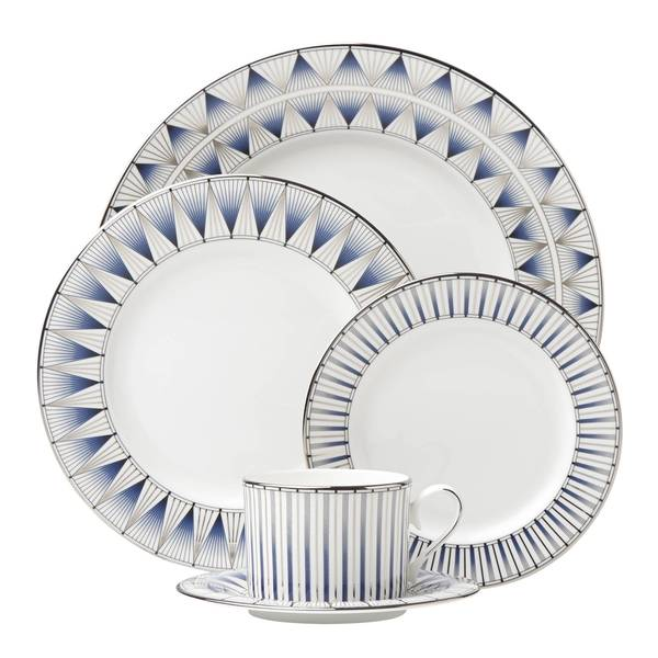 Lenox Geodesia Blue 5 Piece Place Setting 22438057