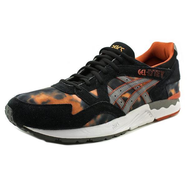 Asics Men's Gel-Lyte V Black and Orange Synthetic Athletic Shoes