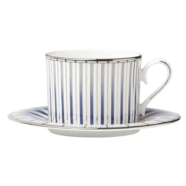 Lenox Geodesia Blue Cup and Saucer Set