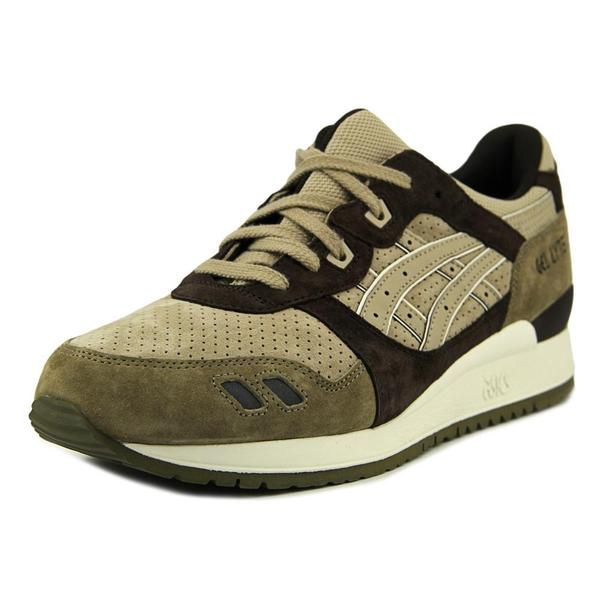 Asics Men's 'Gel-Lyte III' Brown/Tan Suede Athletic Shoes