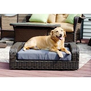 Rattan Pet Sofa Bed - Indoor/Outdoor