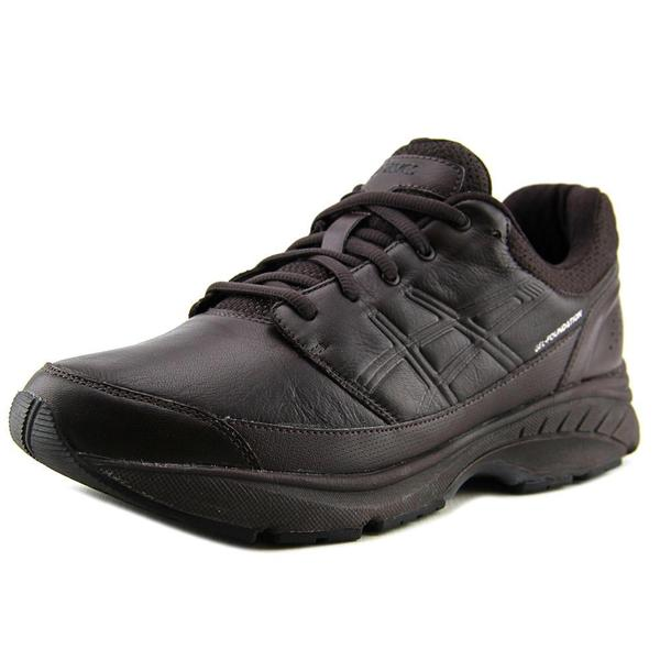Asics Men's GEL-Foundation Workplace Black Leather Athletic Shoes