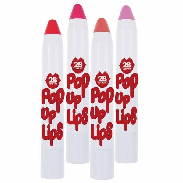 """2B Pop Up Lips """"Pinks"""" 4-piece Set"""