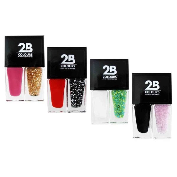 2B Nail Polish Duo Party Pack (Set of 4)