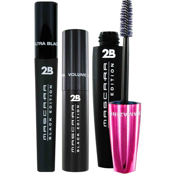 2B Mascara Black Edition Amazing Lashes 3-piece Mascara Set