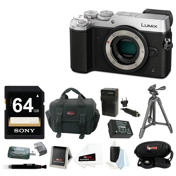 Panasonic DMC-GX8SBODY LUMIX GX8 (DSLM) Camera Body (Silver) + Deluxe SD Bundle 22439435