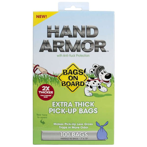 Bags on Board Hand Armor Dog Waste Pick-Up Bags