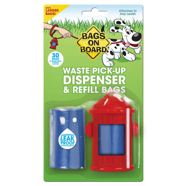 Bags on Board Fire Hydrant Dispenser and Pick-up Bags