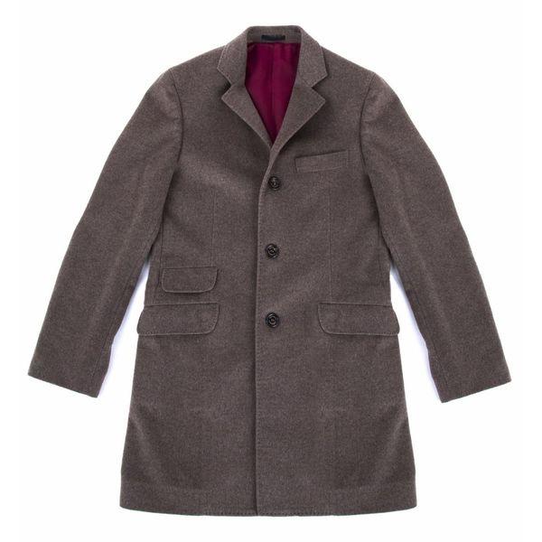 Brunello Cucinelli Oatmeal Cashmere Coat 48 S