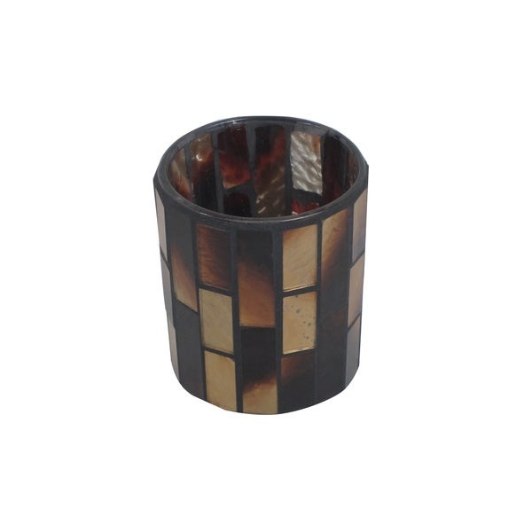FireFly Brown Mosaic Candle Holder 22458309