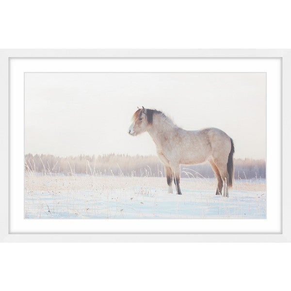 Marmont Hill - 'Horse Stands Still' Framed Painting Print