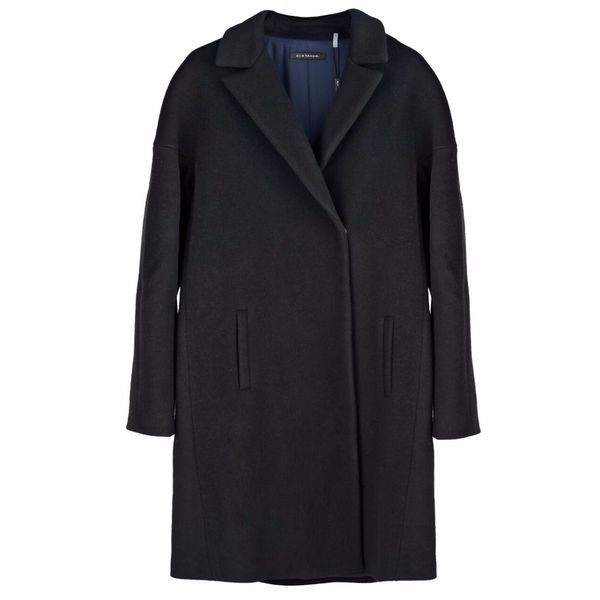 Elie Tahari 'Louisa' Navy Wool Plus Size XL Coat